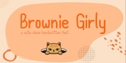 Brownie Girly font download