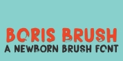Boris Brush font download
