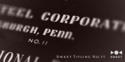 Sweet Titling No. 11 font download