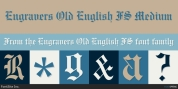 Engravers Old English FS font download