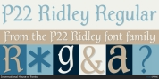 P22 Ridley font download