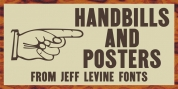 Handbills And Posters JNL font download