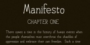 Personal Manifesto font download