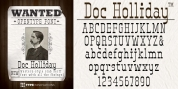 Doc Holliday font download