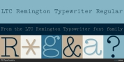 LTC Remington Typewriter font download