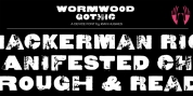 Wormwood Gothic font download