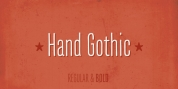 Hand Gothic font download
