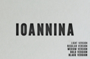 Ioannina Family font download