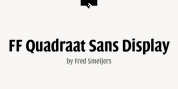 FF Quadraat Sans Display font download