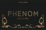 Phenom Outline Medium font download
