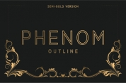 Phenom Outline Semi-Bold font download