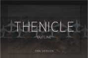 Thenicle Outline Thin font download