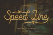 Speed Line font download