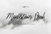 Mountain Peak font download