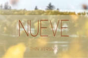 Nueve Thin font download