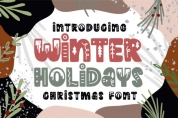 Winter Holidays font download
