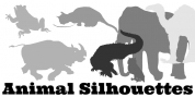 Animal Silhouettes font download
