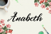 Anabeth font download