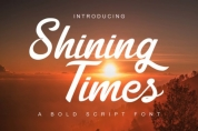 Shining Times font download