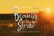 Beauty Straw font download