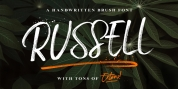 Russell Brush Script font download