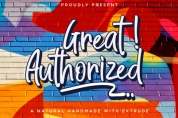 Great Authorized font download
