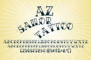AZ Sailor Tattoo font download