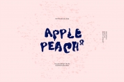 Apple & Peach font download