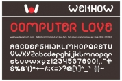 Computer Love font download