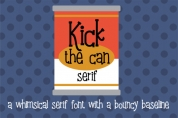 Kick the Can Serif font download