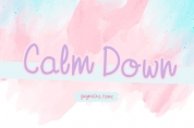 Calm Down font download