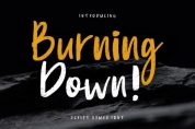 Burning Down font download