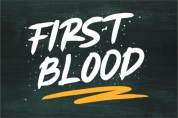 First Blood font download