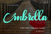 Umbrella font download
