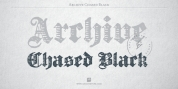 Archive Chased Black font download