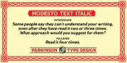 Modesto Text font download
