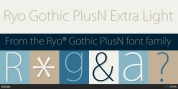Ryo Gothic PlusN font download