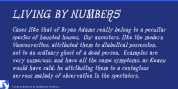 Living by Numbers font download