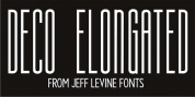 Deco Elongated JNL font download