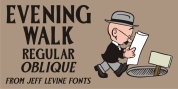 Evening Walk JNL font download