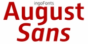 August Sans font download