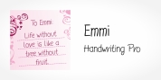 Emmi Handwriting Pro font download