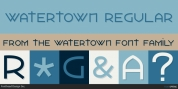 Watertown font download