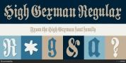 High German font download