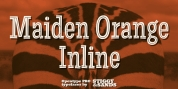 Maiden Orange Inline Pro font download