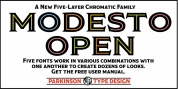 Modesto Open font download