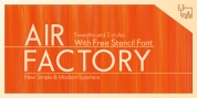 Air Factory font download