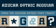 Azucar Gothic font download