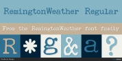 RemingtonWeather font download