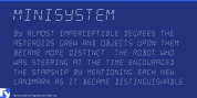 Minisystem font download